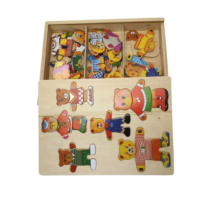 Puzzle v krabičce - Medvídek
