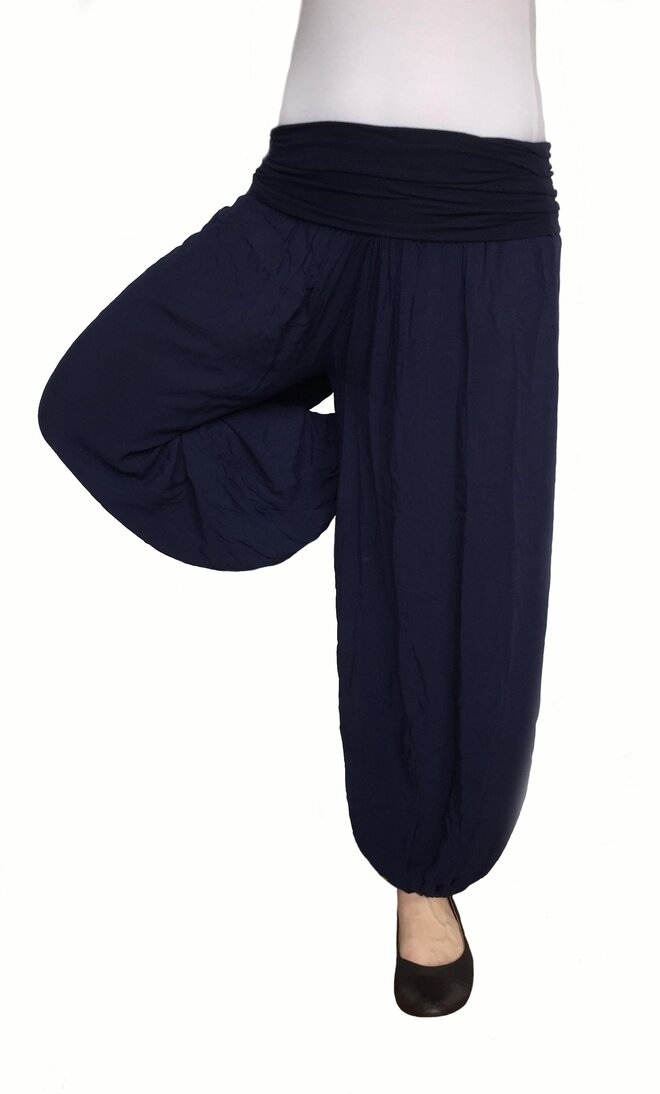 Harémové jednobarevné kalhoty