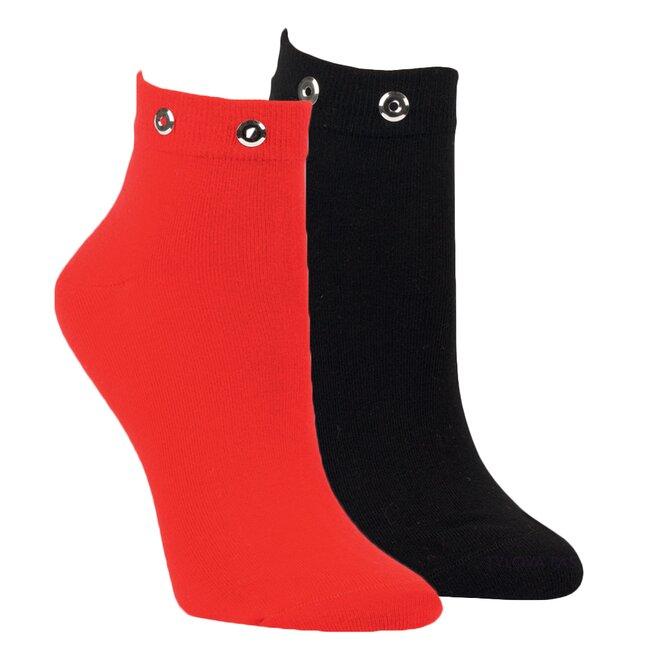2x dámské ponožky černá, červená 1529418