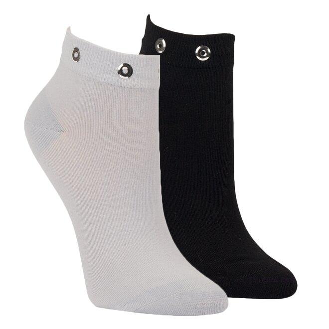 2x dámské ponožky černá, šedá 1529418
