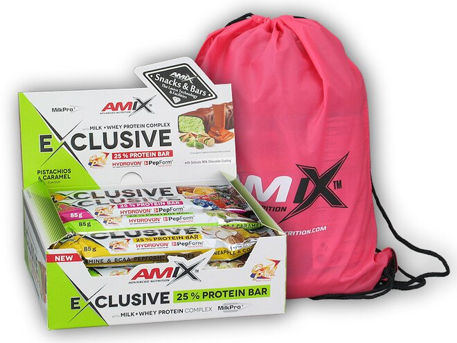 12x Exclusive Protein Bar 85 g + Amix BAG