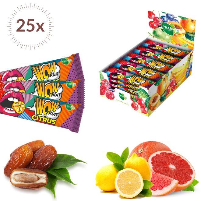 25× 30 g Tyčinek Wow Fruit Citrus