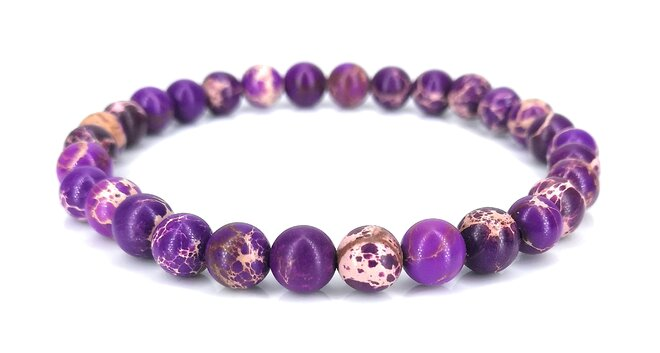 Náramek z jaspisu - fialový