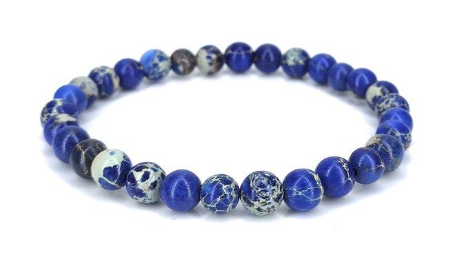 Náramek z jaspisu - tmavě modrý