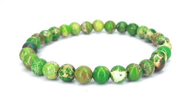 Náramek z jaspisu - zelený
