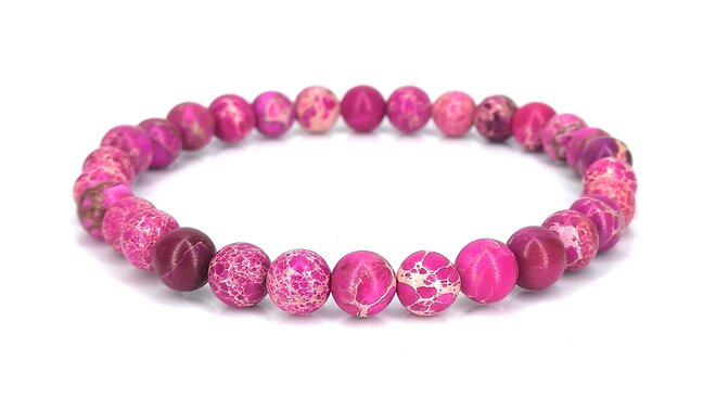 Náramek z jaspisu - růžový