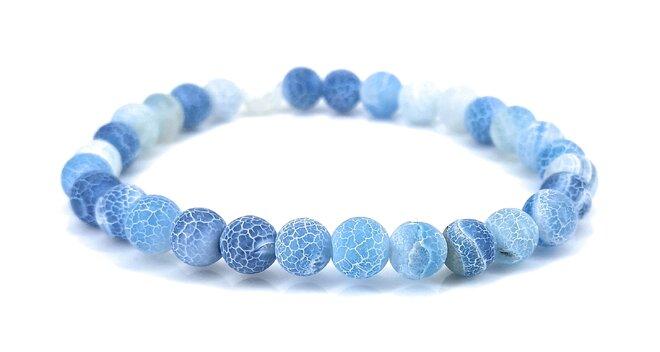 Náramek z achátu - modrý
