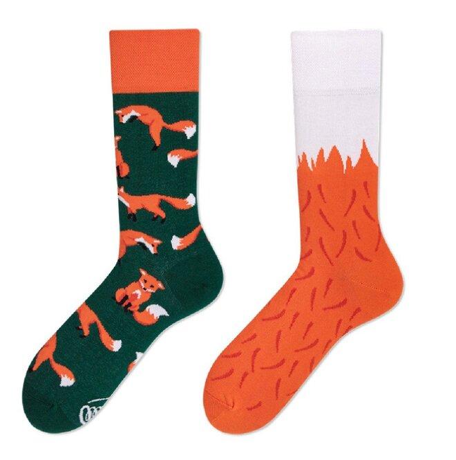 Vysoké ponožky - Lišky