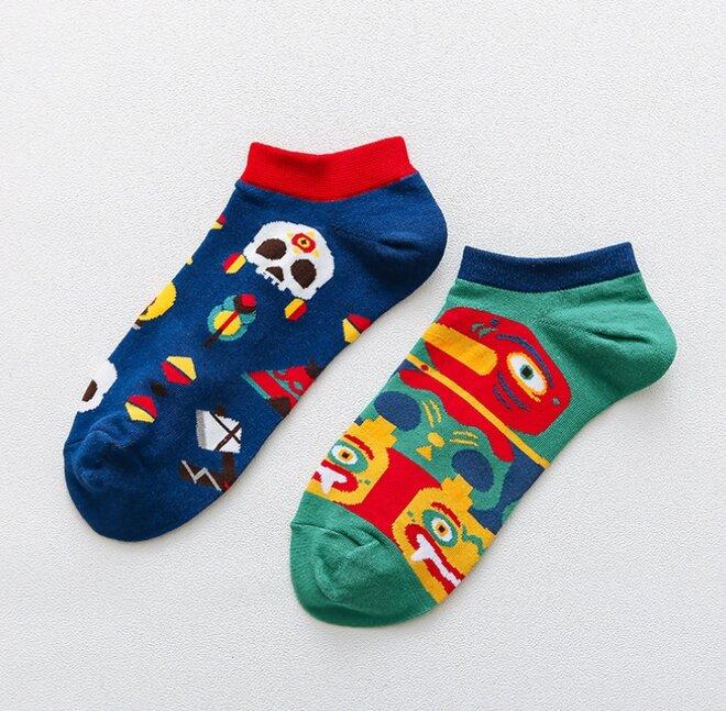 Kotníkové ponožky - Etno