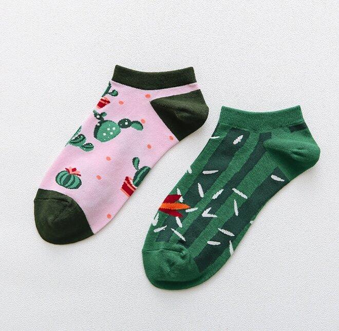 Kotníkové ponožky - Kaktus
