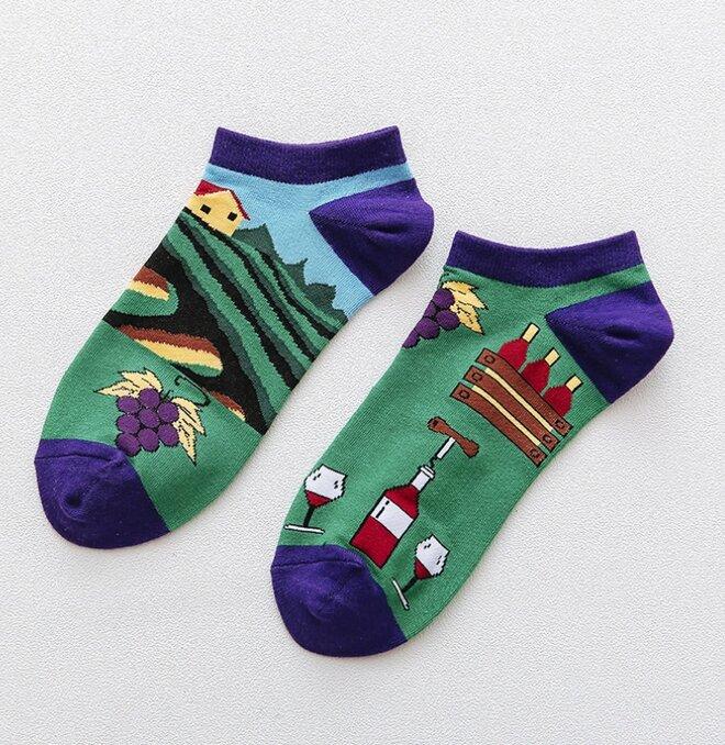 Kotníkové ponožky - Víno