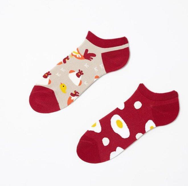 Kotníkové ponožky - Slepice