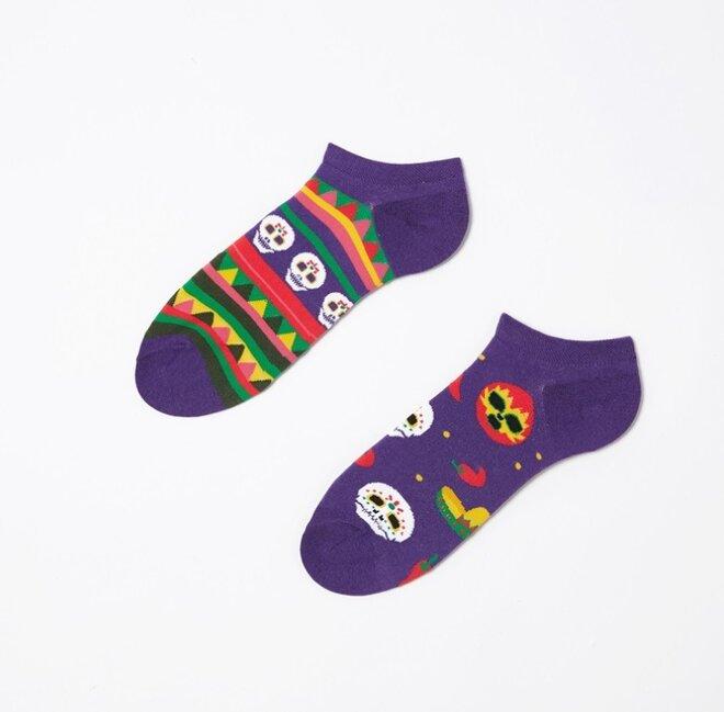 Kotníkové ponožky - Lebky