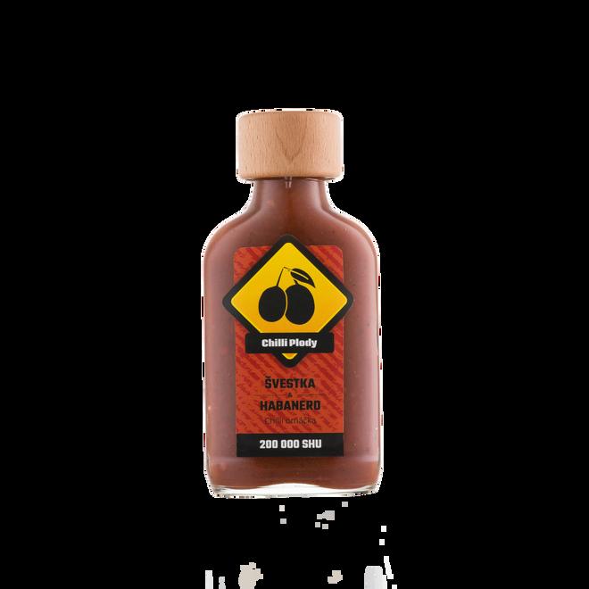 Švestková omáčka extra pálivá, 100 ml