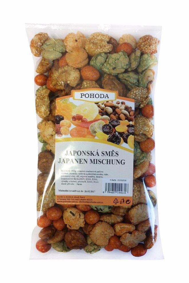 Japonská směs s oříšky, 500 g