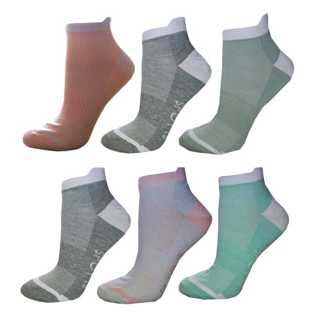 6 párů dámských ponožek SPORT