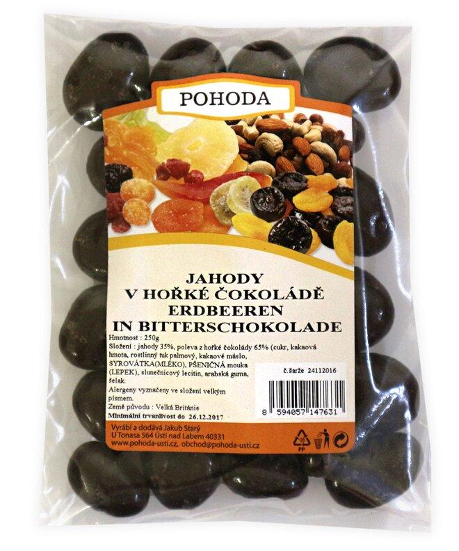 Jahody v hořké čokoládě, 250 g