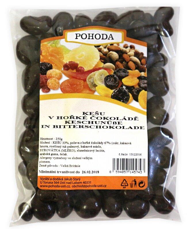 Kešu v hořké čokoládě, 250 g