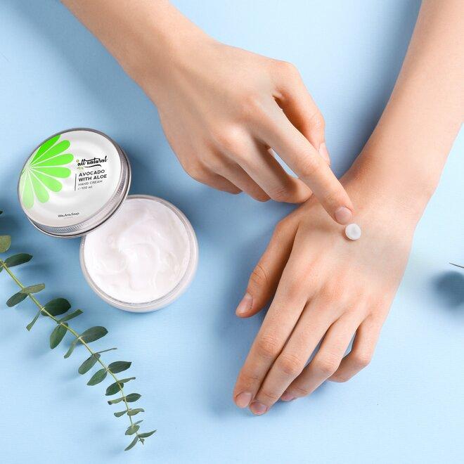 Přírodní krém na ruce - avokádo s aloe