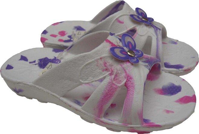 Dětské nazouváky Butterfly bílé