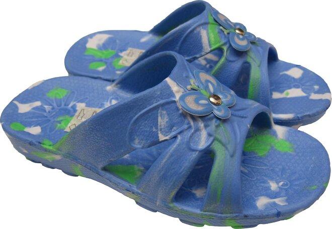 Dětské nazouváky Butterfly modré