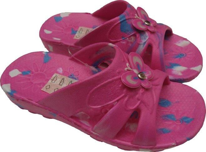 Dětské nazouváky Butterfly růžové