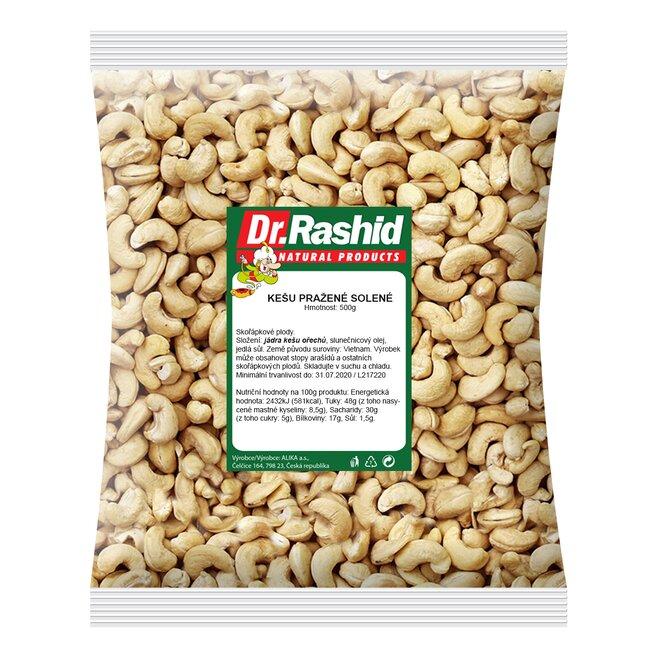 Kešu ořechy pražené solené, 500 g
