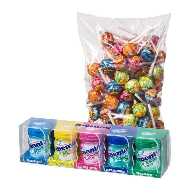 Mentos Gum Gift 100 g + 100 ks Chupa Chups