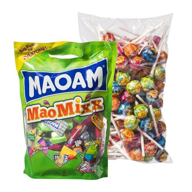 Maoam Mix Pouch 750 g + 100 ks Chupa Chups