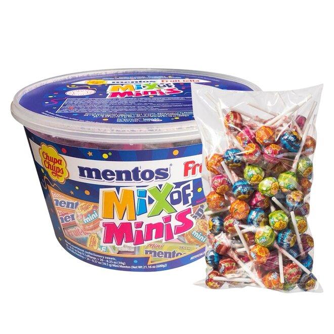 Mentos Mix Of Mini Silo 600 g + 100 ks Chupa Chups