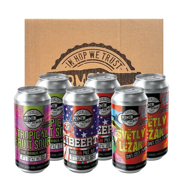6 piv Permon v kartonovém balení