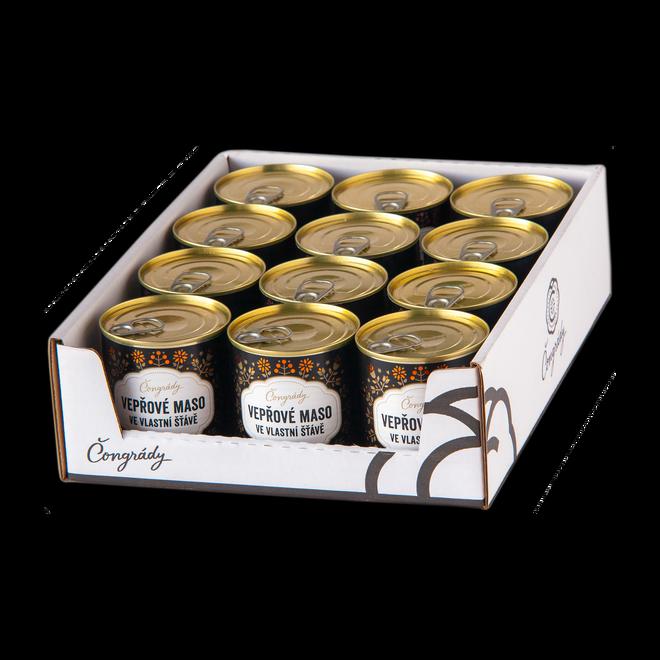 Vepřové hody – 12× vepřové maso ve vlastní šťávě Čongrády
