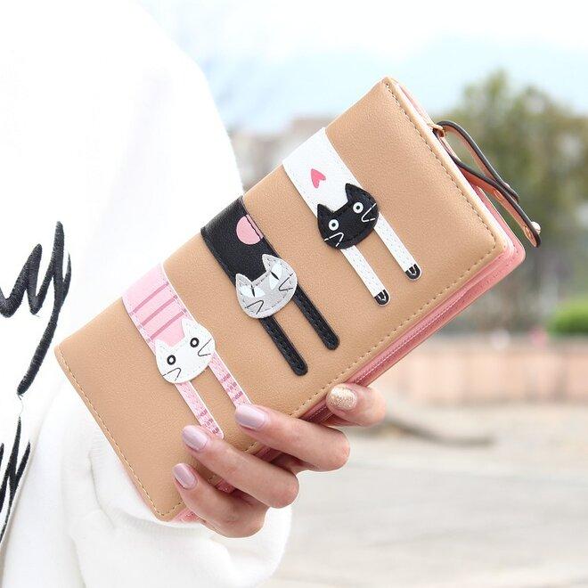 Dámská peněženka – kočky – velká