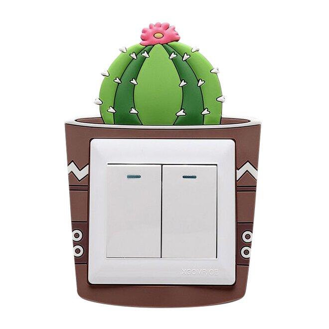 Ozdoba na vypínač – kaktus kulatý
