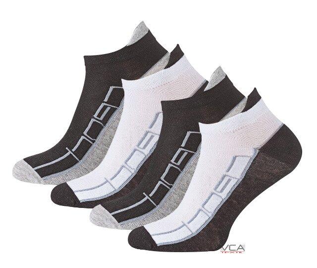 Ponožky pánské kotníčkové zn. Vincent Creation - patní pásek - 4 páry