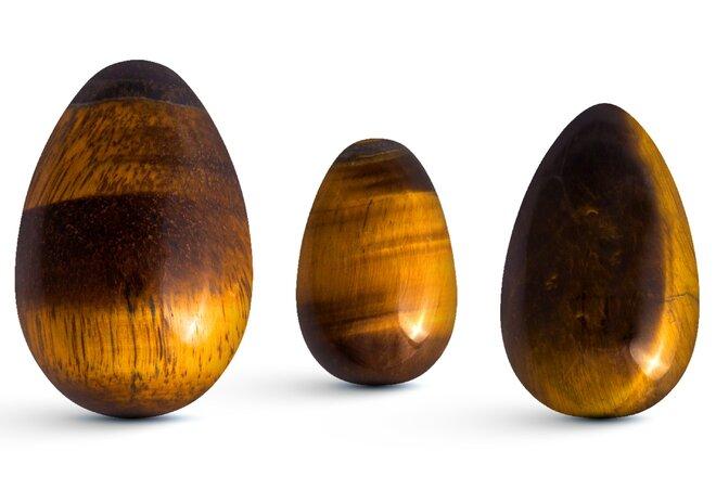 Sada 3 Yoni vajíček – tygří oko