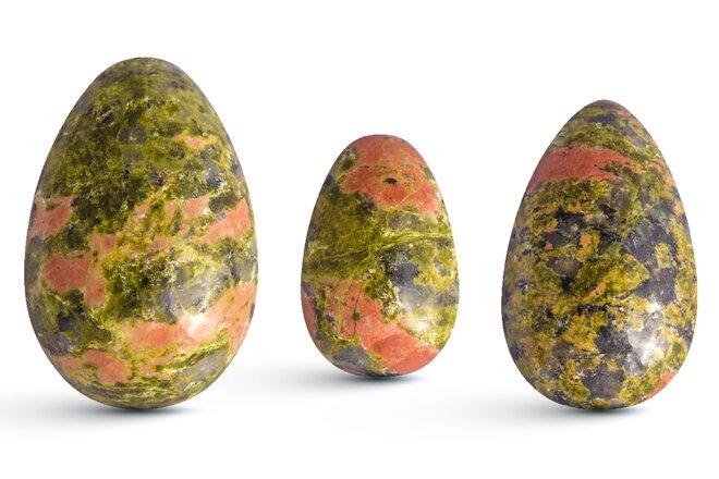 Sada 3 Yoni vajíček – unakit