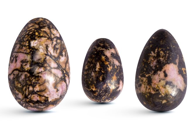 Sada 3 Yoni vajíček – rodonit