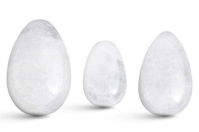 Sada 3 Yoni vajíček – Křišťál