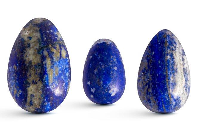 Sada 3 Yoni vajíček – lapis lazuli