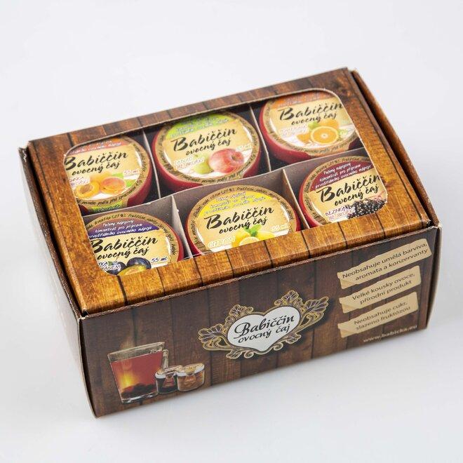 6× pečený čaj (à 60 ml) + univerzální dárková krabička