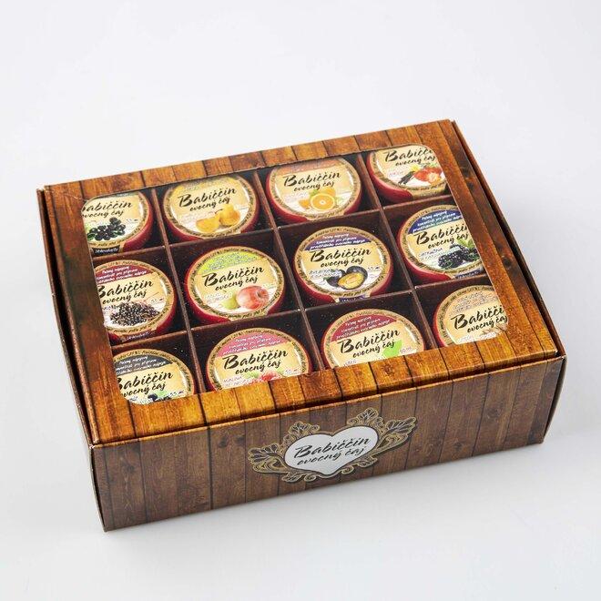 12× pečený čaj (à 60 ml) + univerzální dárková krabička