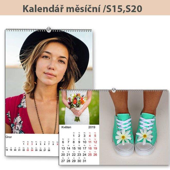 Velký nástěnný měsíční kalendář A3 (S15, S20)
