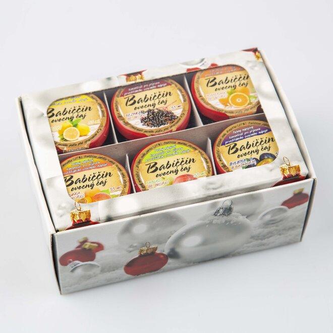 6× pečený čaj (à 60 ml) + bílá dárková krabička