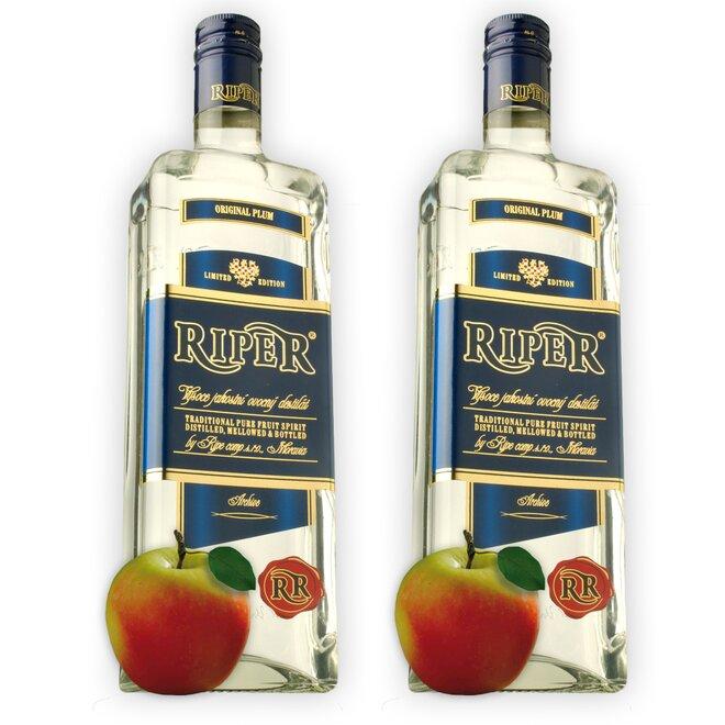 2x láhev destilátu - jablečný Calvados