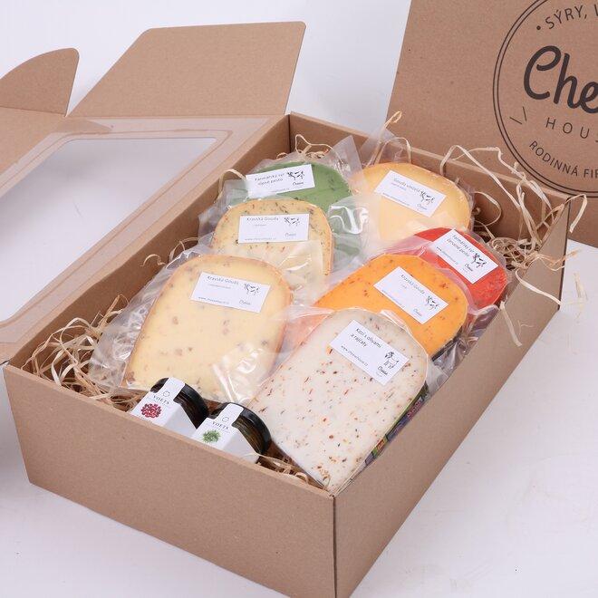Velký balíček sýrů a dipů (bez dárkové krabice)