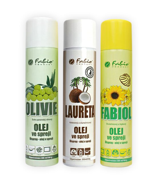 Fabiol, Olivie, Kokosový olej, 3x 300 ml