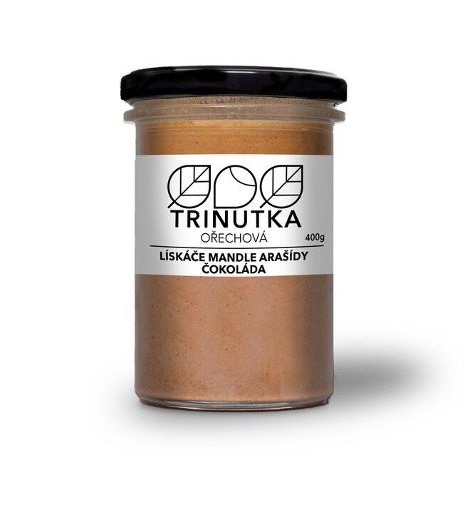 Lískové ořechy, mandle, arašídy, čokoláda, 400 g