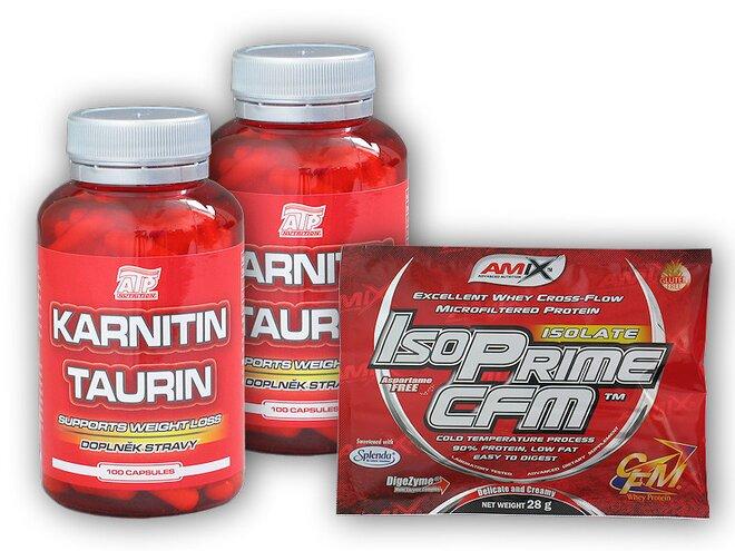 2x Karnitin Taurin 100 kapslí + dárek: IsoPRIME CFM