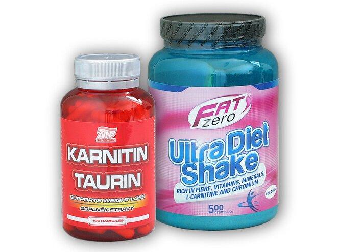 Karnitin Taurin 100 kapslí + Fat Zero Ultra Diet Shake